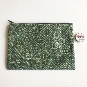 Handmade Zellige Moroccan Pouch - Green
